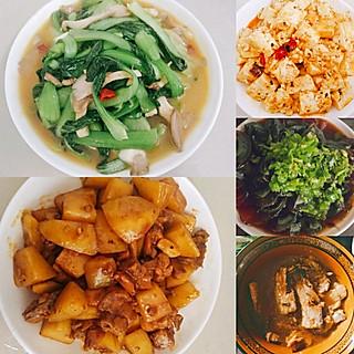 天依瑜若依的简单的饭菜,祝天下所有爸爸父亲节快乐,一家人幸福安康❤️