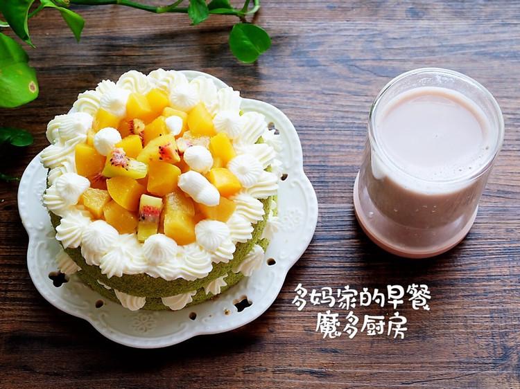 菠菜戚风水果裸蛋糕图4