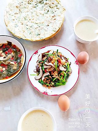 冬日里的暖阳日记的木易家早餐7.18