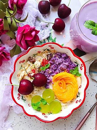 芽芽名叫黄小芽的㊙️轻食首选~隔夜燕麦水果碗,健康美丽吃出来✌🏻️早餐打卡