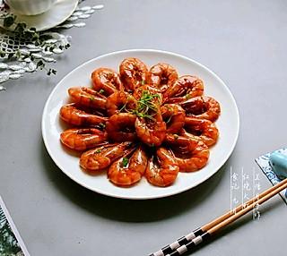 兰惜月的红红的脸啊火火的情——红烧大虾