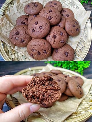 尔東美食记的自制浓郁巧克力味~趣多多软曲奇,好吃到停不下来