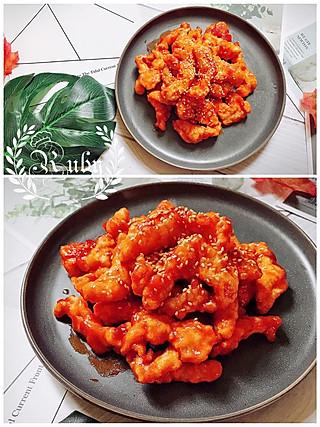 蓝胖纸叮当的0脂肪的意大利进口优选浓缩番茄膏做的糖醋巴沙鱼