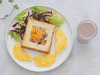 爱下厨的春天的鸡蛋燕麦烤吐司