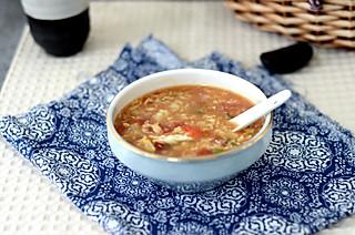 tgcyy的#美食vlogger#番茄疙瘩汤