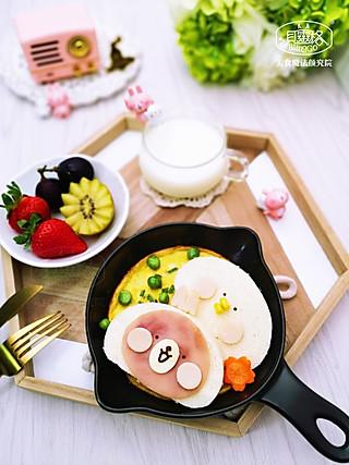 美食魔法颜究院的兔兔葱蛋饼早餐,开启元气满满的一天!