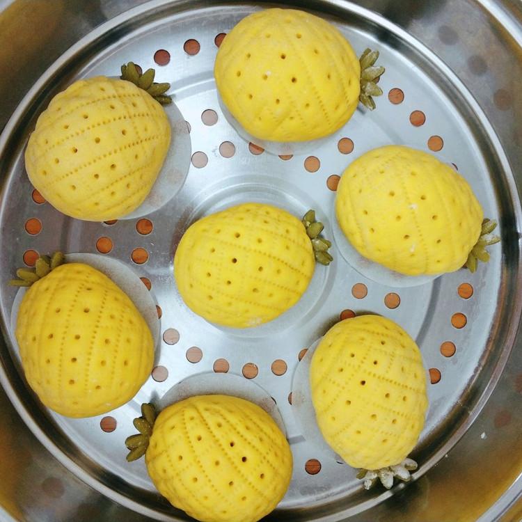 菠萝豆沙包图2