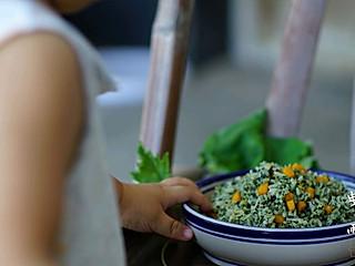 清晨曳雨的野菜南瓜藜麦饭#母婴大咖