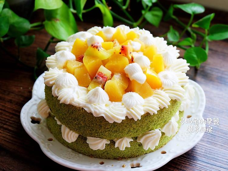 菠菜戚风水果裸蛋糕图1