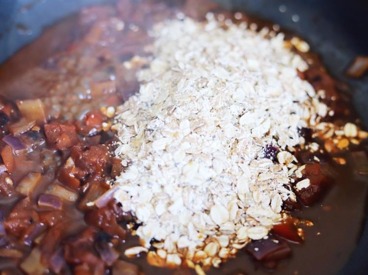 我的快手暖心健身餐:番茄燕麦烩饭,10分钟搞定图7