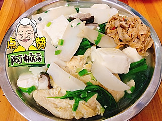 水煮鸡胸肉,油菜花