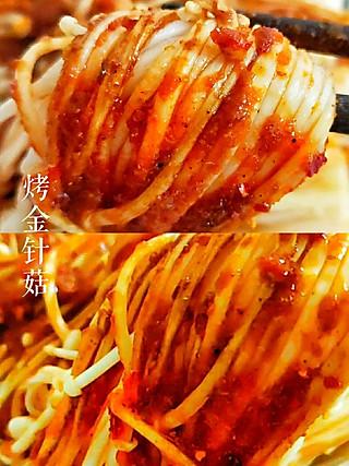 益君美食分享的一款酱料就可以让金针菇华丽转身