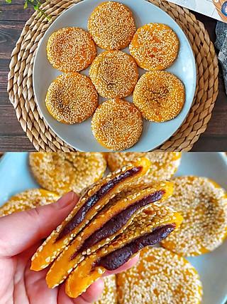 尔東美食记的香甜软糯南瓜豆沙糯米饼,简单易做,好吃到停不下来