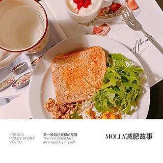 姜蜜条Molly的Ⓜ️D240Molly元气减脂生活•常规吐司蛋&意面晚餐