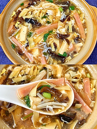 米朵Sunny的十分钟就能搞定❗️超美味的什锦酸辣汤❗️