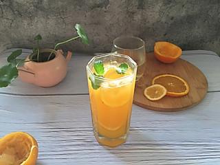 石头妈1的绿茶橙汁柠檬饮