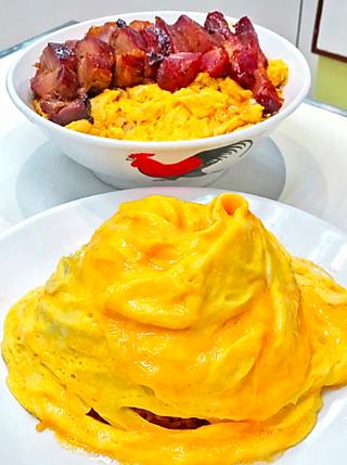 一只511的周润发爱吃的漩涡蛋包饭、叉烧滑蛋系列,终于吃到啦~