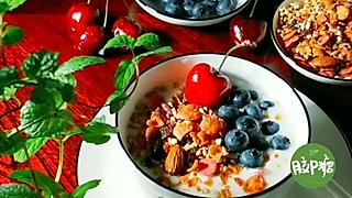 胶P糖的要能量也要冰冰凉的酸奶麦片