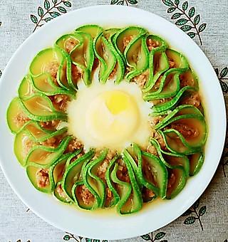 湖泽的蕃瓜(西葫芦)蒸蛋