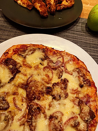 6.21晚自制披萨面坯&披萨酱&烤鸡翅