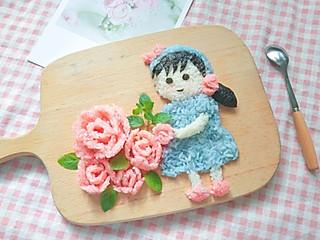 铿锵玫瑰甜甜妈妈的可爱的小花仙子饭团