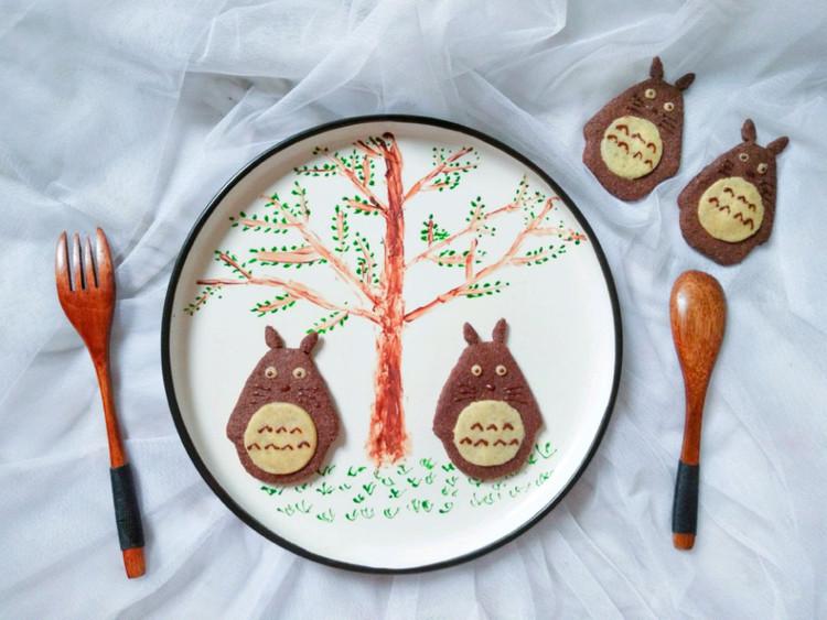 可爱的龙猫饼干图1