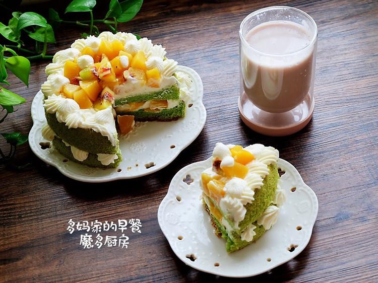 菠菜戚风水果裸蛋糕图5