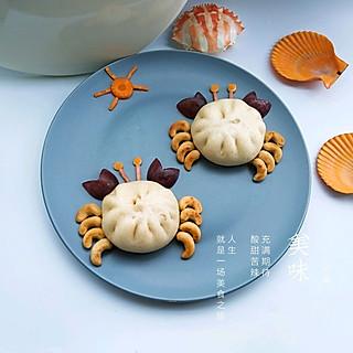 圆圆开心厨房的螃蟹包子萌萌哒,可爱至极!#母婴大咖 #
