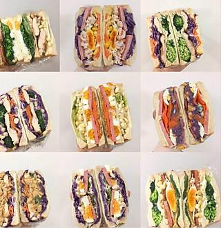 安霞的超级简单的自制三明治🥪~这样搭配一周不重样!