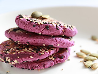 厨小花的无糖奶香紫薯饼-健身餐+快手早餐