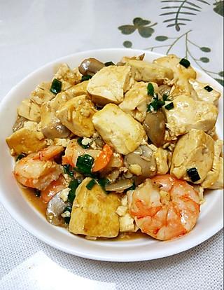 口蘑虾仁豆腐