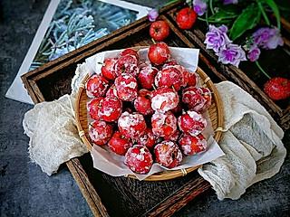 糖小田yuan的雪球糖霜山楂,冰糖口味,酸酸甜甜好开胃,家里人都特别喜欢~