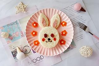 小菁同学的可爱的小兔子三明治,萌化你的心#母婴大咖#