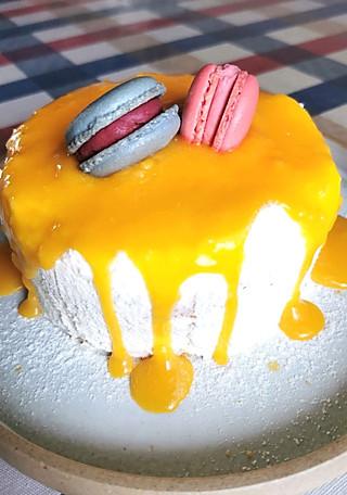 沙棘淋面蛋糕