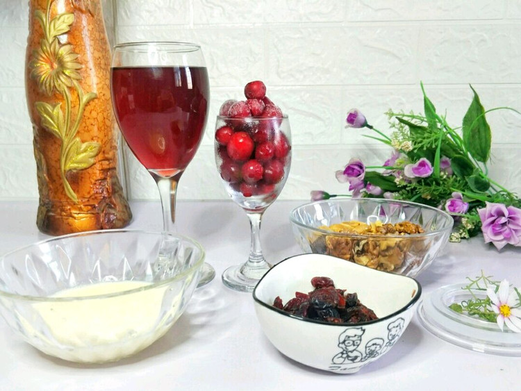 酸香开胃的蔓越莓坚果奶油杯,营养美味,只需10分钟就可做好~图5