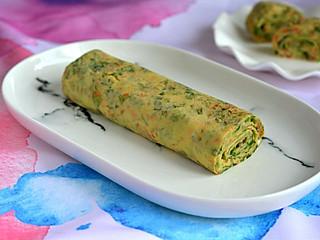 鸡蛋换个做法吃,滚一滚,卷一卷,清香无比还明目!