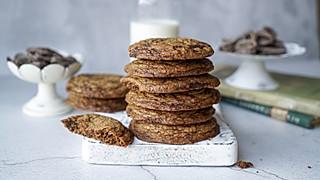 小衣服厨娘的教你制作完美口感超大酥脆巧克力曲奇饼干