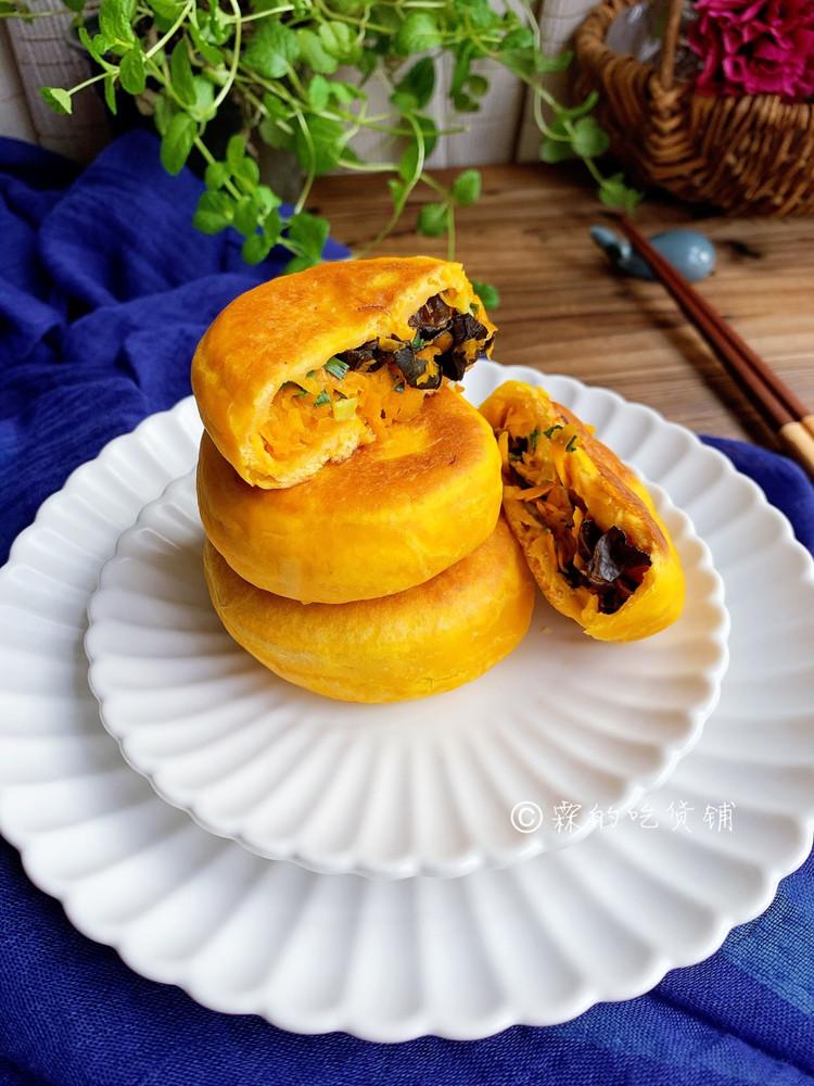 南瓜黑木耳素馅馅饼,不比肉差的美味😅😜图9