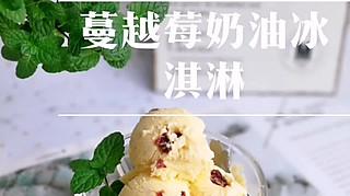 妞妞仔仔多多的蔓越莓奶油冰淇淋,无冰渣哦!