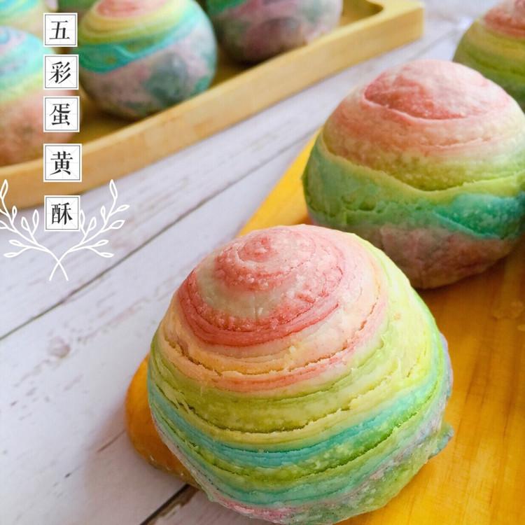 用爱划一道彩虹!颜值高的彩虹酥,螺旋酥,五彩酥,你吃过了吗?图3