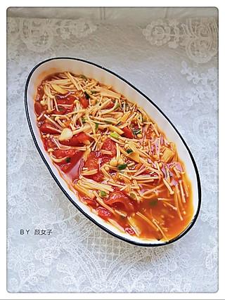 y颜女子的金针菇和西红柿🍅才是天生一对~