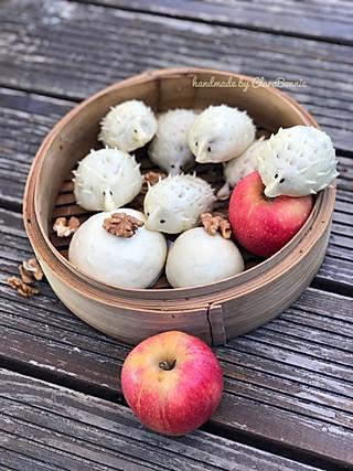 ClaraBonnie的寻觅秋天—小刺猬红豆包 让孩子边玩边吃的食物
