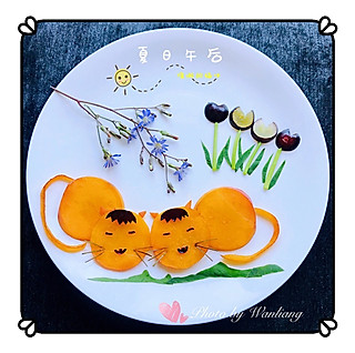 晚凉~文霞的水果蔬菜拼盘~夏日午后,慵懒的猫咪