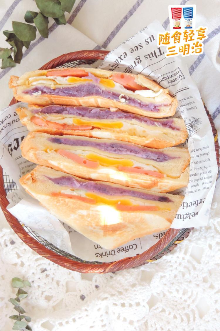 紫土豆泥蛋腿三明治图4