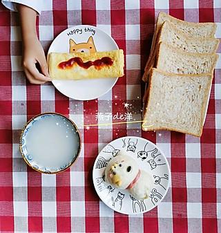"""上学早餐🎀美""""喵""""的一天从早餐开始"""