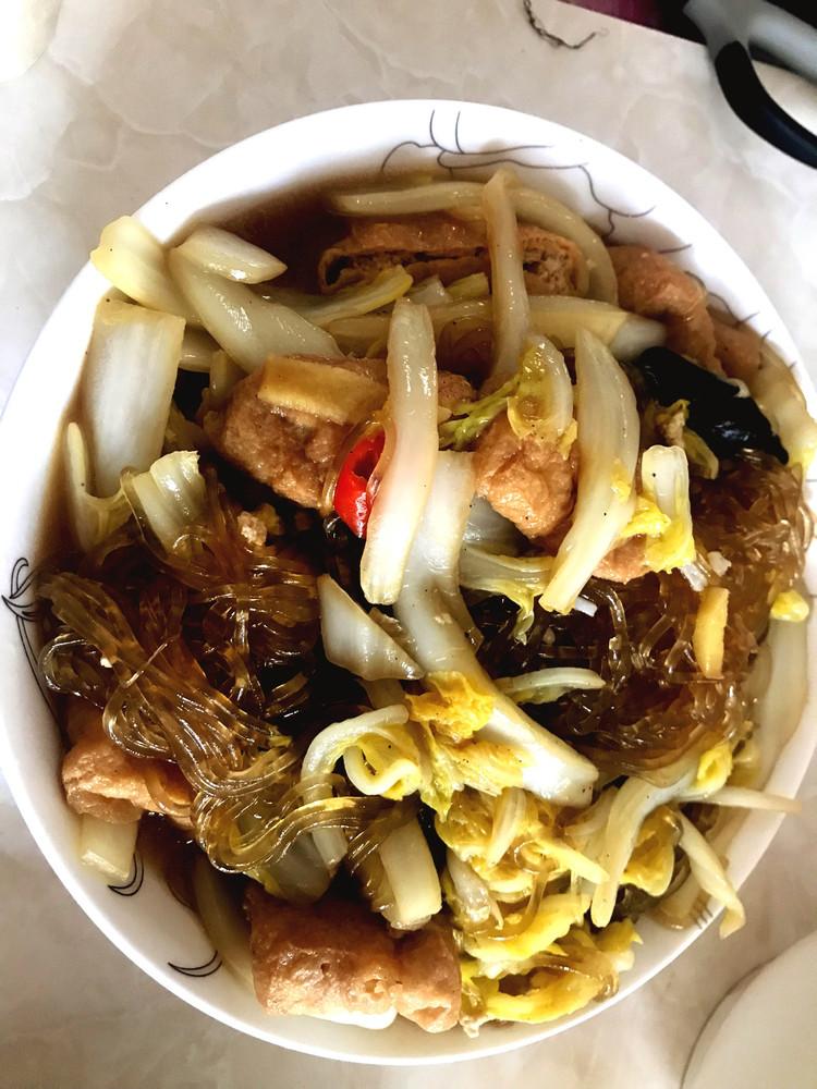 白菜炖粉条,芹菜肉丝图1