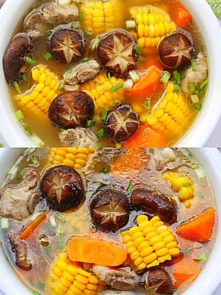 西蘭的连喝三碗都不够🔥香菇玉米胡萝卜排骨汤😋 营养健康又鲜美‼