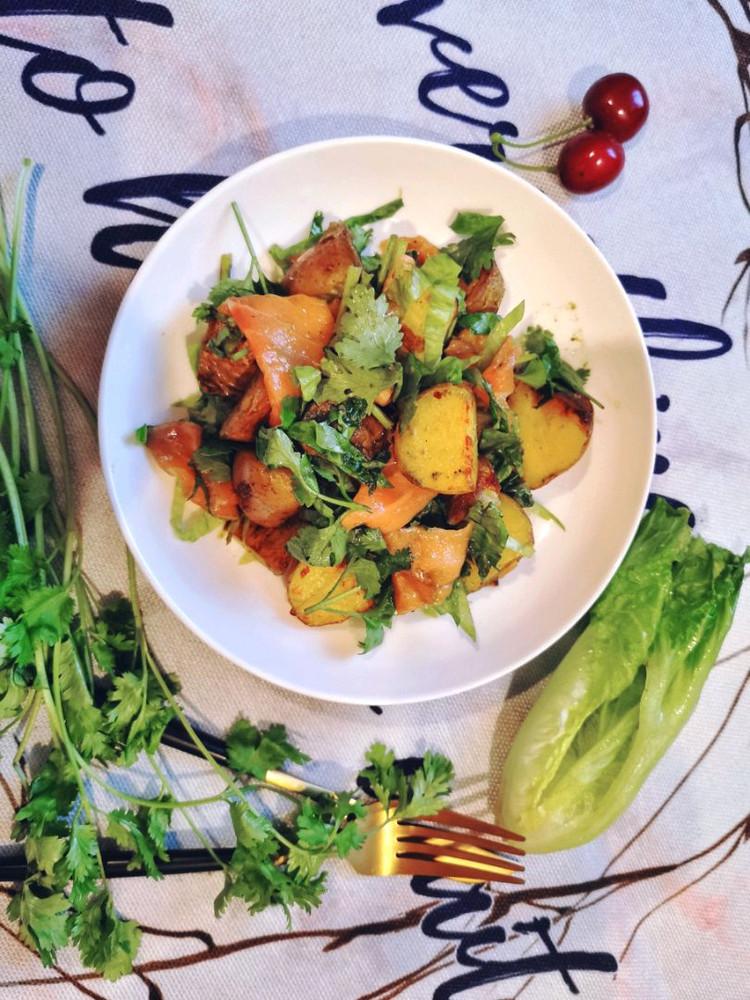 减肥就该这样吃!土豆加它,冰与火的碰撞,做出来的沙拉如此美味图1