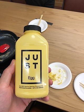 板刀面与馄饨汤的just植物蛋试吃