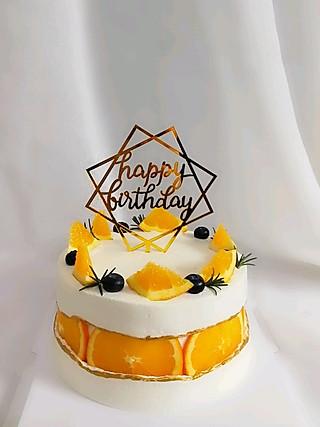 幸福滋味于聿宝贝的香橙断层蛋糕